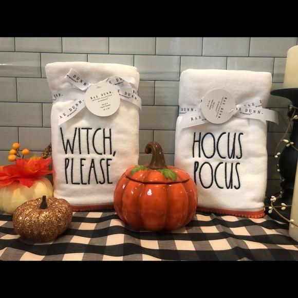 4 Rae Dunn Halloween towels